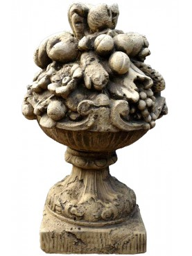 Vase of fruits H.75cms