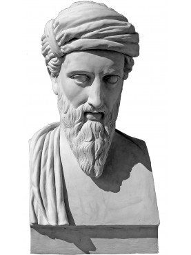 Pitagora busto in gesso - erma greca di nostra produzione