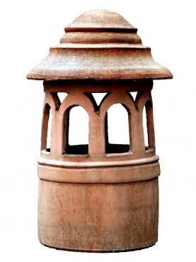 Comignolo in terracotta Øint.30cm Fiorentino cilindrico
