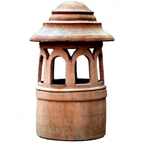 cylindrical terracotta Chimney Øint.30cms from Florence