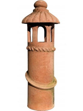 cylindrical terracotta Chimney from Florence