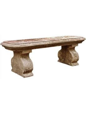 Panchina di ns realizzazione in pietra calcarea