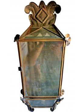 Villa Buonvisi Brass lantern, hand-welded