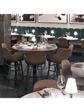 Tavolini rotondi ristorante Marmo e ferro