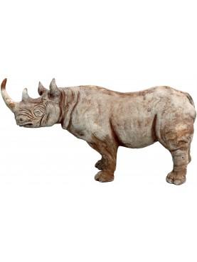 Balck Rhinoceros hook-lipped in terracotta