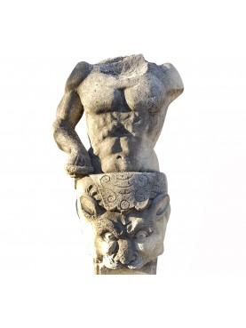Erma in calcarenite raffigurante un Ercole neoclassico
