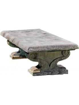 Panchina in pietra bifacciale in pietraserena