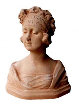 Piccolo busto di nobildonna fiorentina in terracotta
