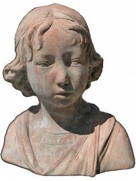 Bust of a Florentine boy in terracotta