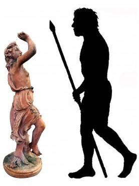 Statua dell'abbondanza in terracotta toscana1:1 statua