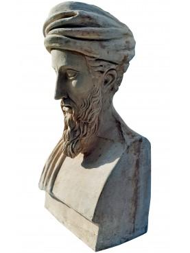 Pitagora busto in terracotta - erma greca di nostra produzione