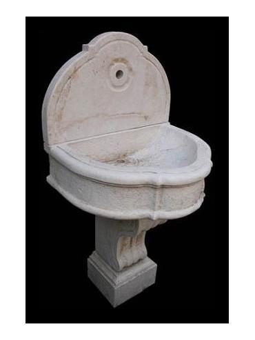 Lime stone fountain