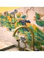 Pannello 36 piastrelle con disegno napoletano - Chiostro Maiolicato di Santa Chiara