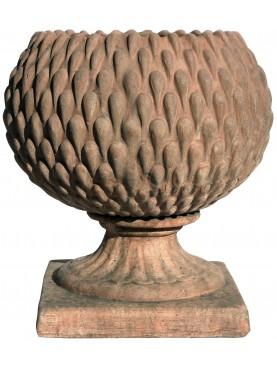 Vaso Pigna Sferica in terracotta patinata