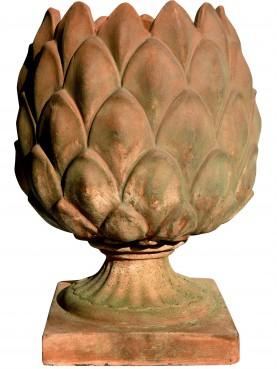 Ornamental cachepot artichoke pot