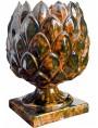 Vaso Carciofo in terracotta maiolicata