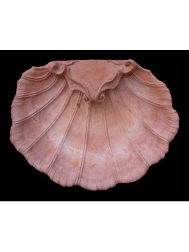 Great terracotta shell sink
