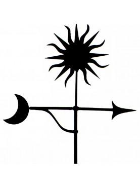 Segnavento sole, stella polare e freccia