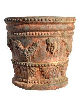 Testone festonato piccolo - vaso da fiori in terracotta