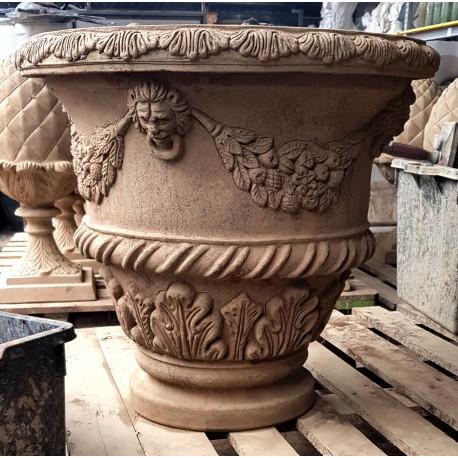 Vaso da Limoni con festoni da 61 cm terracotta Impruneta conca
