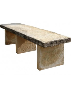 Grande panchina minimalista in pietra calcarea
