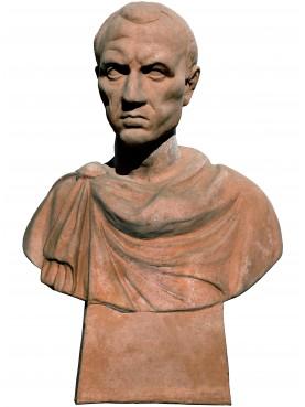 Terracotta bust of Lucio Cornelio Silla Dictator of the Roman Republic