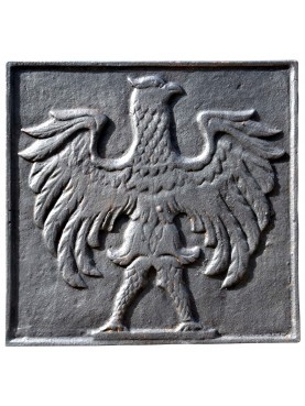 Original fireback eagle cast iron