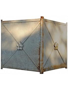 rectangular forged-Iron Jardiniere