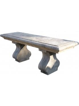 Panchina fiorentina di nostra produzione - pietra serena