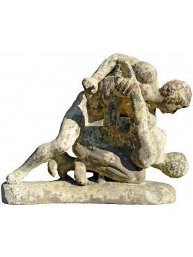 Lottatori, due pancratiasti, nostra riproduzione in terracotta