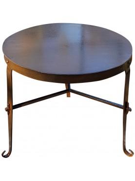 Tavolino basso rotondo di nostra produzione in ferro