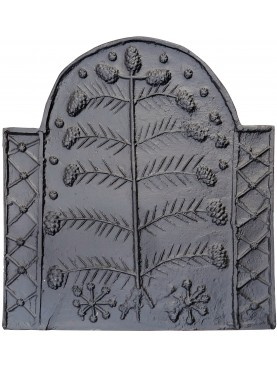 Cast-iron Fireback Tree of Life L 83 cm