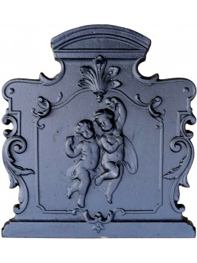 Cast-Iron Fireback two childs L 55 cm.