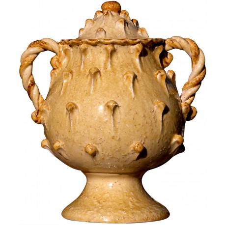 Vaso con manici a tortiglione e tappo di foggia medievale