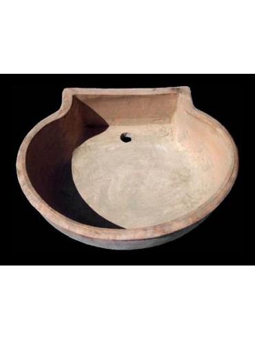 Sink in terracotta