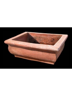 Big sink in terracotta