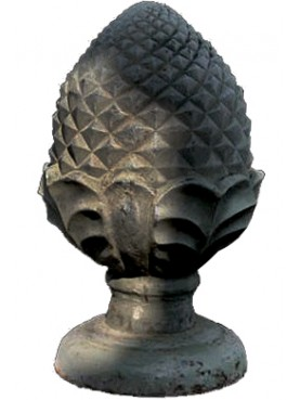 Great cast-iron pine cone H.72cms