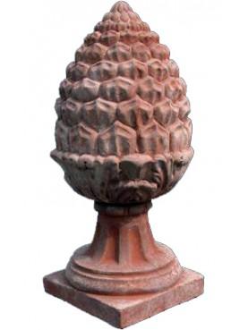 Terracotta pine cones H.68cms