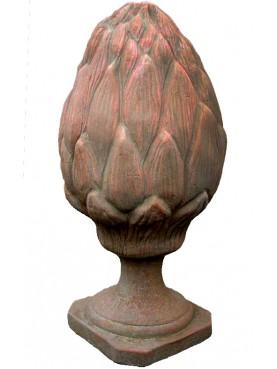 Terracotta pine cones H.55cms
