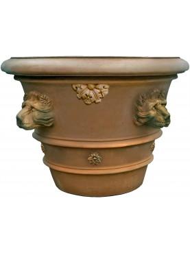 Tuscan Vase Ø 90 cms Impruneta flowerpot with lions heads