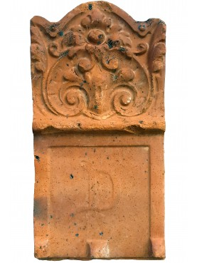 ANCIENT terracotta flowerbed EDGING TILE - English origin - anti-freeze stoneware