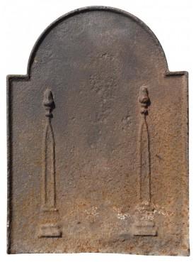 Lastra in ghisa per camino antica originale