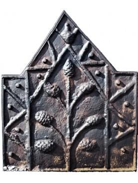 Lastra in ghisa per camino gotica francese riproduzione