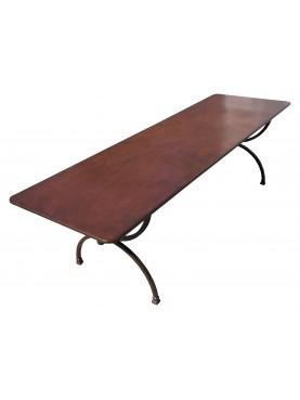 Rectangular forged iron table 300 cm Porcinai