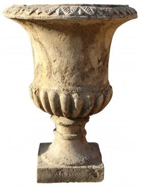 Cement vase H.74cms