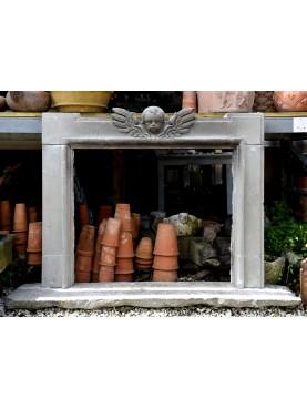 Salvator Rosa in pietra serena con angelino alato