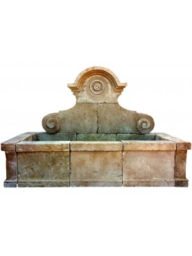 Large limestone stone fountain