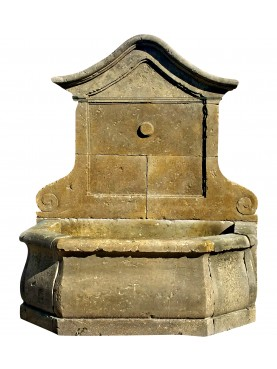 French Stone fountain in limestone