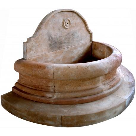 Fontana semicircolare in 15 pezzi