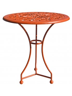 Cast-iron and forged-iron Ø66cms round table with roses